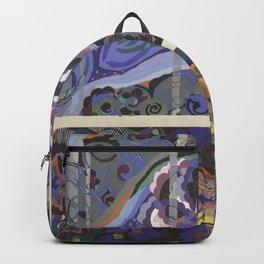 vintage marbled art deco pattern design Backpack