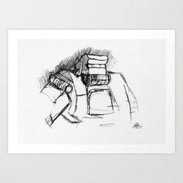 Warbot Sketch #009 Art Print