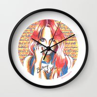 britney spears Wall Clocks featuring Britney Spears' Britney Jean Album by Eduardo Sanches Morelli