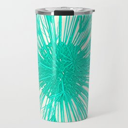 Teal Burst Travel Mug