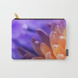 Flower Sunset | cute pastel flower, peach flowers, orange floral pattern, pretty petals, macro Carry-All Pouch