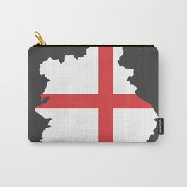 West Midlands map with flag of England illustration Carry-All Pouch