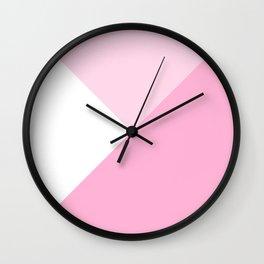 Rose Quartz Angles Wall Clock