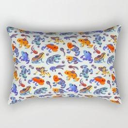 Poison dart frogs - bright Rectangular Pillow
