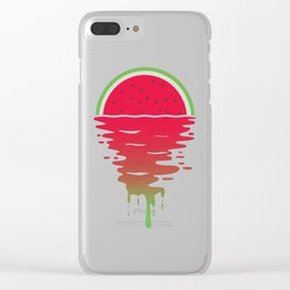 Watermelon Sunset 80s Style Clear iPhone Case