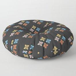 Las Flores 02 (Patterns Please) Floor Pillow