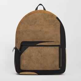 Geometric Harmony Black 02 - Minimal Abstract Backpack
