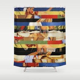 Glitch Pin-Up Redux: Jessica Shower Curtain