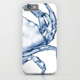 Coastal Crab in Watercolor, Navy Blue (Right Half in Set) iPhone Case