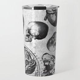 Vintage Medical Engravings of a Human Skull Travel Mug