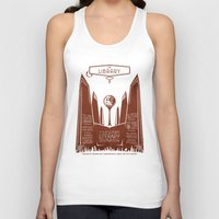 literary Tank Tops featuring The Library - Your Ultimate Literary Destination by futuristicvlad