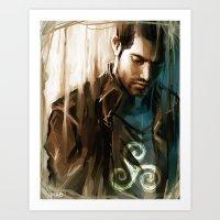 derek hale Art Prints featuring Derek Hale * Tyler Hoechlin  by AkiMao