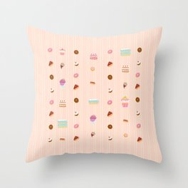 Sweet treats Throw Pillow
