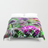clover Duvet Covers featuring Sparkling clover. by Mary Berg