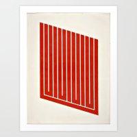 Geometric Mod Art Frameless 2 Art Print