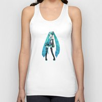 vocaloid Tank Tops featuring Miku by Sally Taylor