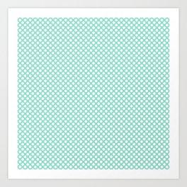 Beach Glass and White Polka Dots Art Print