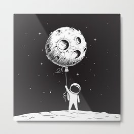 Fly Moon Metal Print