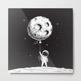 Fly Moon Metal Print