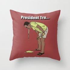 Trump Vomit Throw Pillow