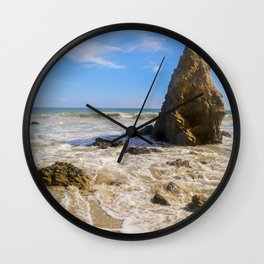 Rocky Paradise in Malibu Wall Clock