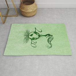 Mother Earth 2020 - Grunge Green Rug