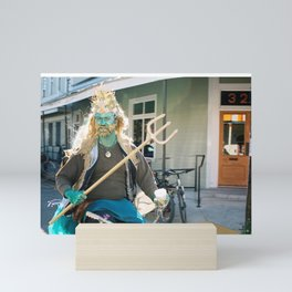 Neptune on Mardi Gras Mini Art Print