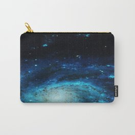 Teal Pinwheel Galaxy Carry-All Pouch