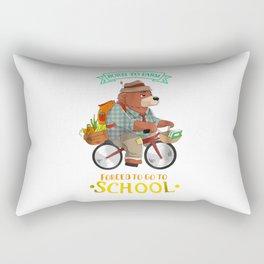 Farmer Born To Farm Forced To Go To School Rectangular Pillow