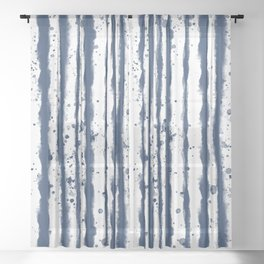 Wet Stripe Sheer Curtain