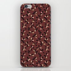 loves me loves me not pattern - oxblood iPhone & iPod Skin