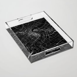 Shanghai Black Map Acrylic Tray