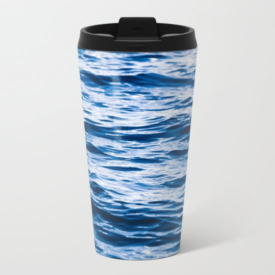 Waves at the Lake Metal Travel Mug