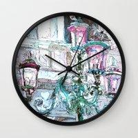 the lights Wall Clocks featuring lights by Oksana Ivanenko