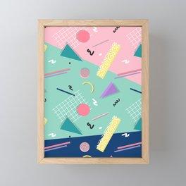 Dreaming 80s Pattern #society6 #decor #buyart Framed Mini Art Print
