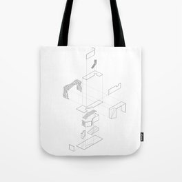 Exploded Axon Tote Bag