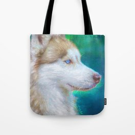 Golden Siberian Husky Tote Bag
