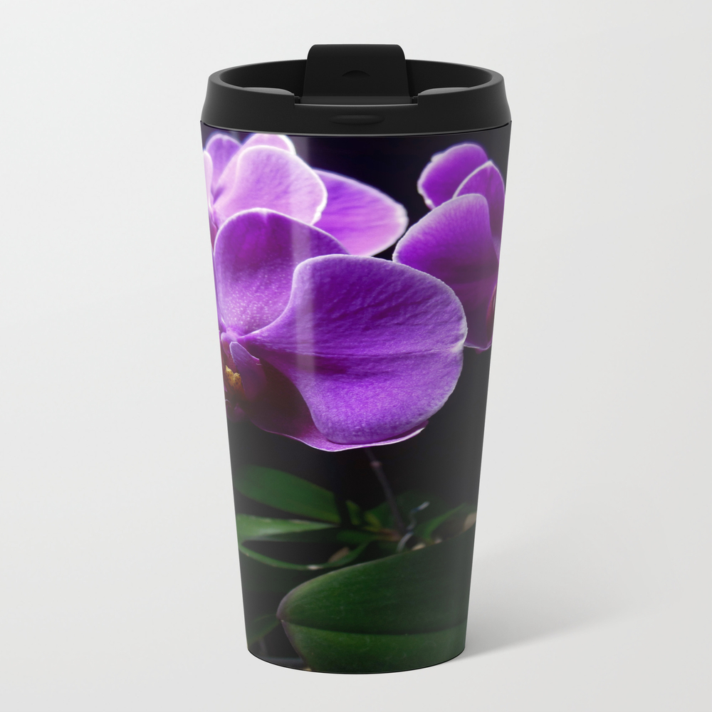 Low Key Orchids Metal Travel Mug by Supersmashcache MTM8586127