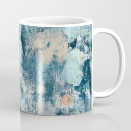 017: a bright contemporary abstract design in blues pinks and yellow by Alyssa Hamilton Art  Coffee Mug