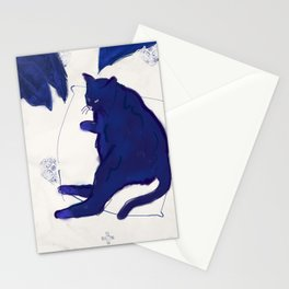 Chat bleu Stationery Cards