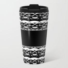 Skull Pattern Metal Travel Mug