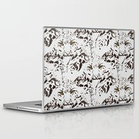 snow leopard Laptop & iPad Skins featuring Snow Leopard by lillianhibiscus