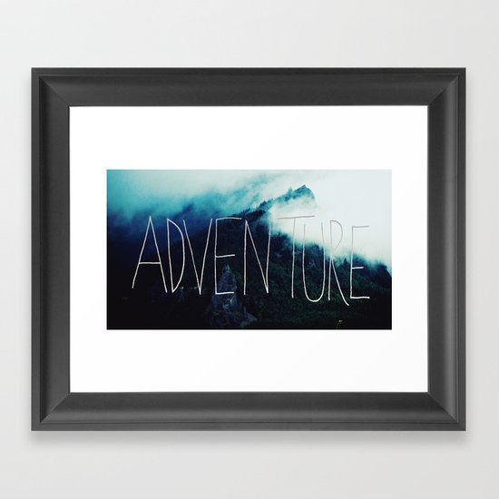 Adventure Mountain Framed Art Print