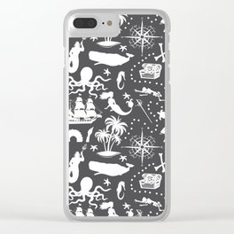 High Seas Adventure // Charcoal Clear iPhone Case