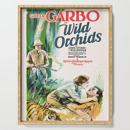 Classic Movie Poster - Wild Orchids Serving Tray