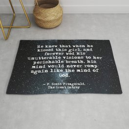 When he kissed this girl - Gatsby quote Rug