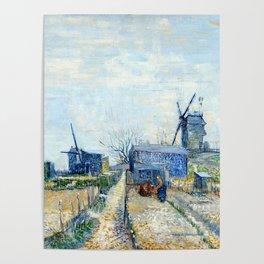 Vincent Van Gogh - Montmatre mills and vegetable gardens Poster