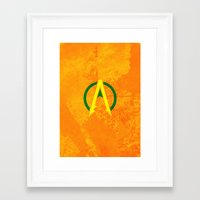aquaman Framed Art Prints featuring Aquaman by Some_Designs
