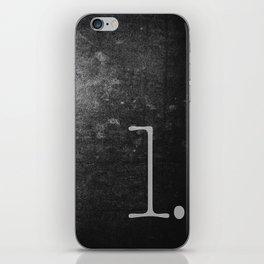 NUMBER 1 BLACK iPhone Skin