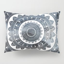 Ukatasana white mandala on sky Pillow Sham